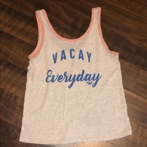 Rosy Cropped Vacay Everyday Tank Size Small